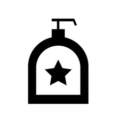 soap dispenser bottle icon vector image