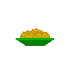 Spaghetti alla carbonara traditional italian dish vector