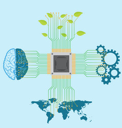 Technology and information development and vector