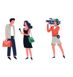 Television show interview journalist vector
