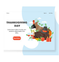 thanksgiving day website landing page vector image