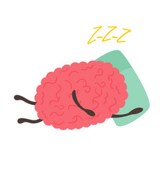 train your brain poster with funny cartoon brain vector image