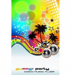 tropic rainbow mesh vector image