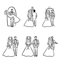 Wedding wishes art icon vector