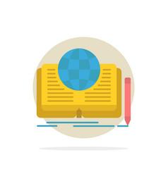 Writing novel book story theory abstract circle vector