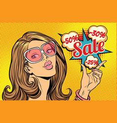beautiful hot sale woman vector image