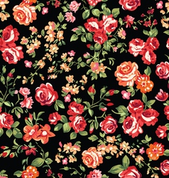 classic roses seamless background vector image vector image