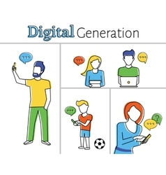 Digital generation vector image