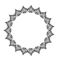 Elegant frame circle decoration isolated vector