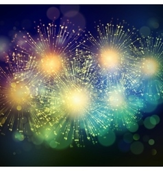 Holiday Fireworks Background vector image vector image
