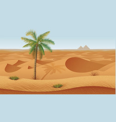 horizontal seamless background with desert palms vector image vector image
