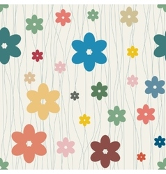 Seamless floral background with camomiles vector image vector image