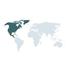 world map north america vector image