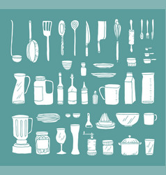 A set of kitchen objects vector