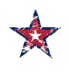 American flag star grunge element vector image
