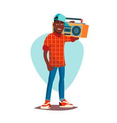 classic rapper man modern musician flat vector image
