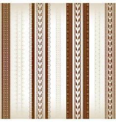 set of ornamental borders vector image