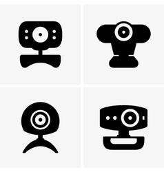 Web cameras vector image