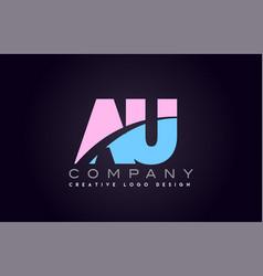 au alphabet letter join joined letter logo design vector image vector image