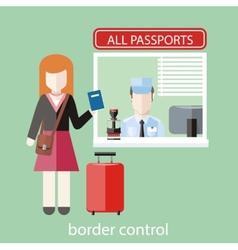 Border control concept vector image