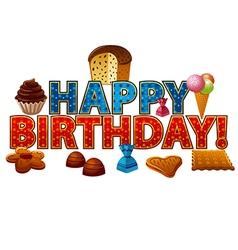 happy birthday candy vector image vector image
