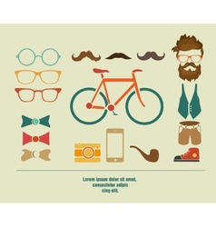 hipster info graphic hipster elements vector image