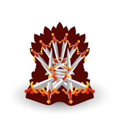 Iron throne for computer games design vector