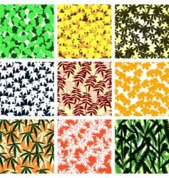 leaf tiles vector image vector image