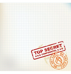 secret stamps vector image vector image