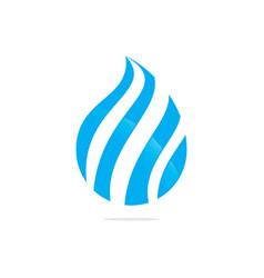 swirl water drop abstract logo image vector image vector image