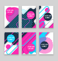 abstract colorful geometric banner vector image vector image
