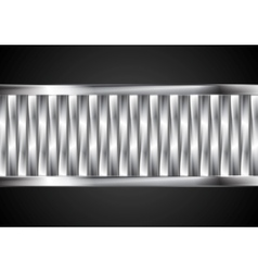 Abstract tech banner from metallic stripes vector image vector image