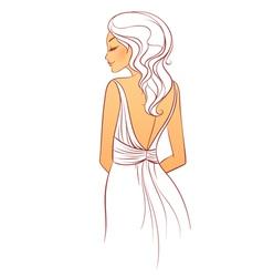 back dress vector image