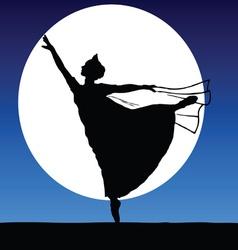 ballerina on a moonlight vector image