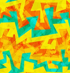 bright yellow graffiti seamless pattern vector image vector image
