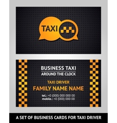Business cards - taxi vector image vector image