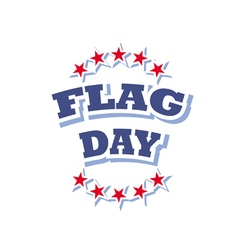 flag day america logo isolated on white background vector image