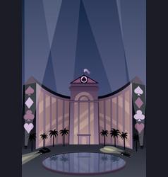 Hotel and casino vector