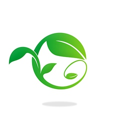 leaf swirl ecology abstract logo vector image vector image