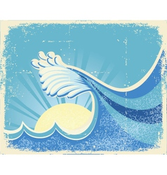 sea landscape with sun vector image vector image