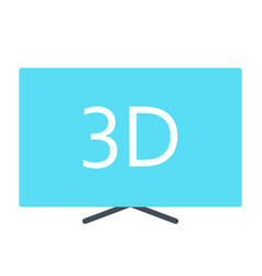 3d television silhouette icon tv video symbol vector image