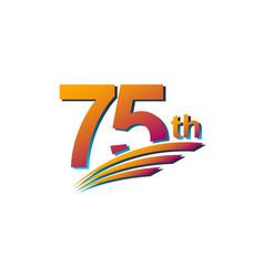 75 th anniversary elegant celebration template vector
