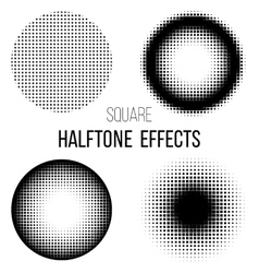 abstract square halftone vector image