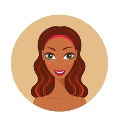 African American young woman looks Happy Fresh and vector image