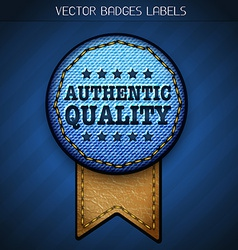 authentic quality label vector image