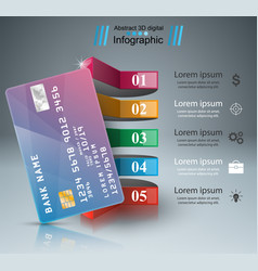 bank card icon business infographic vector image