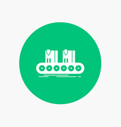 belt box conveyor factory line white glyph icon vector image