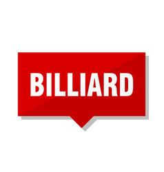 Billiard red tag vector