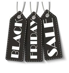 black friday sale tags black friday sale vector image