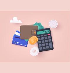 Budget management concept economy background vector